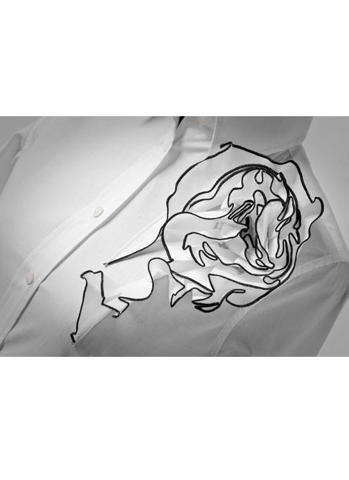 Dettaglio Camicia da Donna Bianca Gardenia
