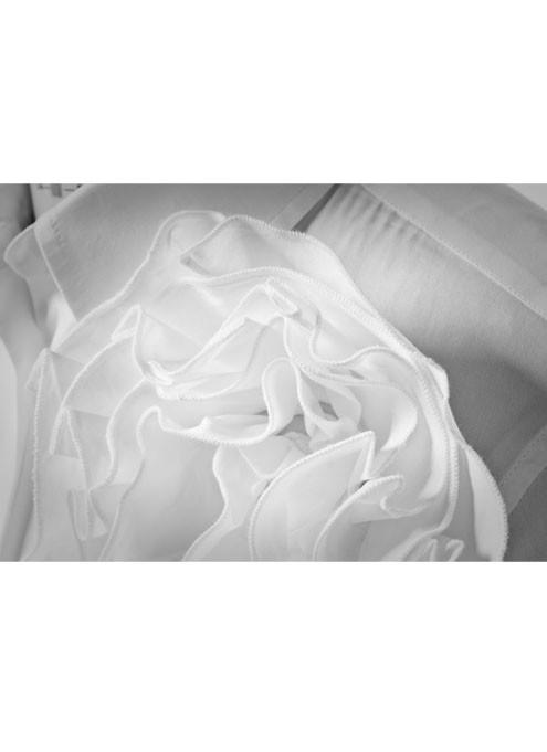 Particolare Bianco Camicia da Donna Bianca Gardenia